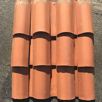 Straight Barrel Clay Mission Roof Tile