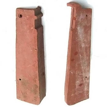 Salvaged Roof Tile Gable Rakes Closed Shingle