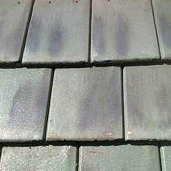 In Stock Roofing Tiles - Sea Green Flat Black