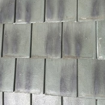 In Stock Roofing Tiles - Patina Green 2 Spray Black Flat Tile