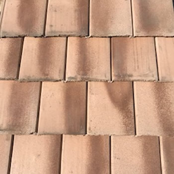 In Stock Roofing Tiles - Rust Color Flat Tile