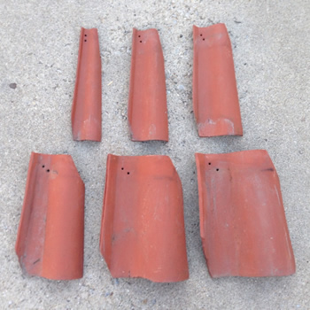 Tapered Ludowici Clay Spanish Turret Tiles
