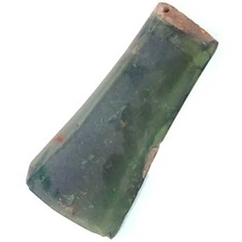 Salvaged Roof Tile Green Glazed